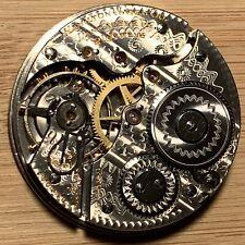 Early 1st Pattern Damascene 1906 Hamilton 992 Gold Train Pocket Watch Movement