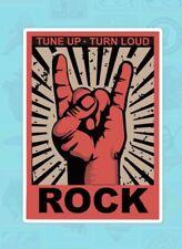 """Garage Band 4"""" Sticker Indie Rock 'n' Roll Punk Gig Tune Up Grunge Rock On Music"""