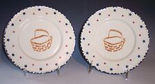 "7"" Plates-Basket Pattern-Set of 2!"