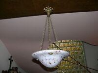 Art Deco Jugendstil Lampe Deckenlampe Original ca. 1920 Pat de Verre Frankreich