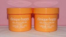 2 x Clinique ~ HAPPY Perfume GELATO BODY CREAM ~ Lot of 2 x 2 oz.