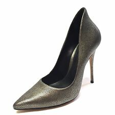 SCHUTZ Kevelin Cracked Gray Gunmetal High Heels Pumps Womens Size 7.5 M