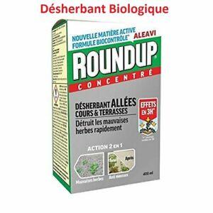 Désherbant Total Bio Puissant - 400 ml  pour Jardin Jusqu'à 400 m² - Roundup
