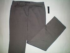 NWT NEW womens size 12 X 32 gray black LARRY LEVINE mid rise dress pants $60