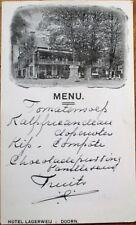 Doorn, Utrecht, Netherlands 1921 Handwritten Menu in French - Hotel Lagerweij- 4