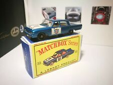 Ford Fairlane Police car Matchbox Lesney almost mint condition, boxed, 55B