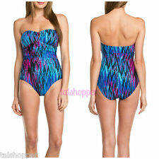 "NWT 16 $188 SPANX ""Slimming Sweetheart"" WAVE LENGTH Bandeau Bra 1 Piece Swimsuit"