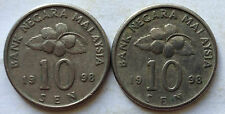 Second Series 10 sen coin 1998 2 pcs