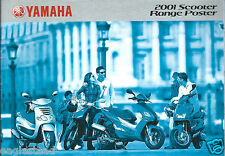 Scooter Brochure - Yamaha - Product Range Overview Poster - 2001 (Dc416)