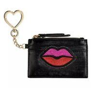 New Victoria's Secret Black Keychain Coin ID/credit Card Holder