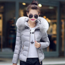 2017 New Winter Coat Female Short Hooded Jacket Jacket Big Fur Collar