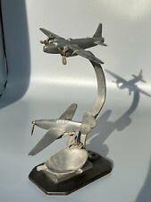 More details for raf ww2 trench art aluminium desk model ashtray wellington & spitfire?