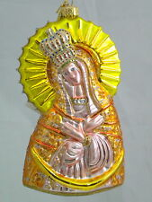 """Edward Bar OUR LADY OF OSTRA BRAMA 6.10"""" glass Christmas Ornament Hand-made"""