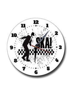 SKA 250MM DIAMETER ROUND METAL CLOCK, MUSIC, REGGAE, 2 TONE MUSIC