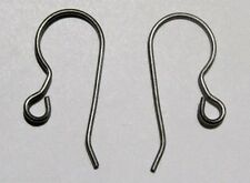 12 ea /6 prs TITANIUM French Hook Ear Wires Earrings ASTM F67 Grade 1 (No Nickel