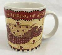 Vintage 1997 Debbie Mumm Sakura Gathering of Angels Mug Coffee Tea Cocoa