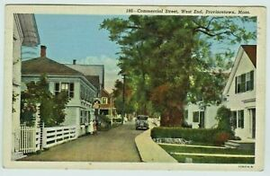 Provincetown,Massachusetts, PU-1942; Narrow Commercial Street, West End
