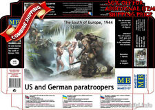 Master Box 35157 WWII US and German Paratroopers (the South of Europe) kit 1/35