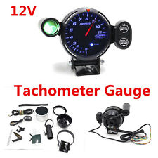"12V Car Tachometer Gauge 3.5"" LED Meter with Shift Light+Stepping Motor RPM Kit"