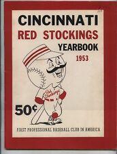 1953 Cincinnati Reds Red Stockings Redlegs Official Yearbook Klu NMT