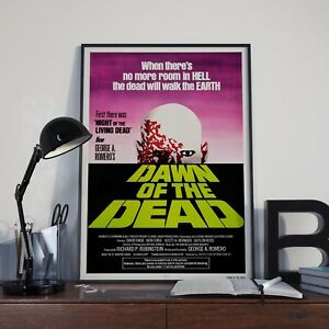 George Romeros Dawn Of The Dead Zombie Movie Film Poster Print Picture A3 A4