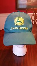 John Deere Ball Cap Green Gold Cary Francis Group One Size Fits All NEW
