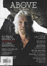 Above Magazine Richard Branson Global Warming Isabella Rossellini Lily Cole 2010