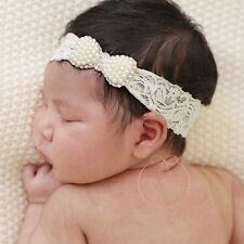 Baby Newborn Girl Princess Bowknot Pearl Rhinestone Headband Hair Accessories