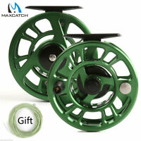 Maxcatch 3/4wt 5/6wt 7/8wt Green CNC Machined Cut Fly Fishing Reel