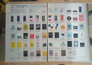 CREAM. FIFTH BIRTHDAY. DOUBLE PAGE POSTER. RARE. FREE UK POST