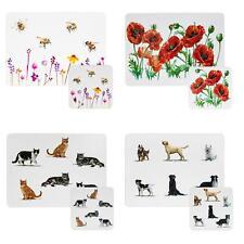 Tableware - Pack of 4 Cork Back Placemats / Coasters - Choose item & Design