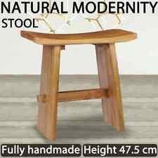 vidaXL Solid Teak Wood Stool Bathroom Seat Kids Low Height Wooden Seating