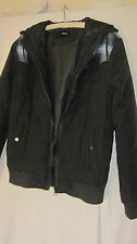 ASOS black quilted hooded jacket   size Medium