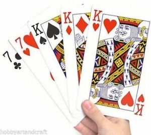 Jumbo Playing Cards Deck Extra Large Cards Playing Cards Pack of 52 New New