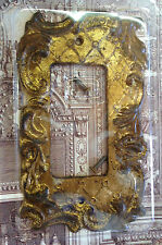 Dimmer Switch Plate Set of 4 Antique Gold Florentine