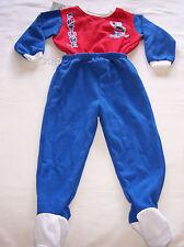 Western Bulldogs AFL Boys Blue Red Printed 2 Piece Fleece Pyjama Set Size 0 New
