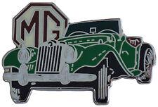 MG TF car cut out lapel pin - Green body