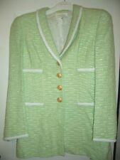 LUXUS COUTURE ESCADA BLAZER Boucle gold mint 40/42 GOLF tweed jacket1120LANDHAUS