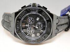 Mens New Aqua Master Jojo Joe Rodeo Real Black Diamond Watch 32 1.5 Ct Swiss