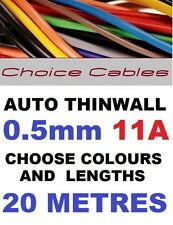 20m 0,5 Mm 12v Auto Cable De 11 A 16/0.2 coche barco Telar de alambre Automotriz 11 Amp