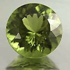 MasterpIece Collection: Round Faceted Natural Apple Green Peridot (2-7mm)