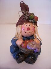 HALLOWEEN SCARECROW FIGURINE AUTUMN FALL DECORATION