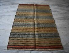 Handmade Jute Multi Color Striped Area Kilim Rug ,Rug Carpet,Size By 5x8 Feet