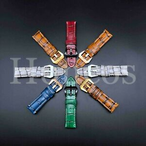 20-26 MM Leather Alligator Watch Band Strap Fits for Invicta Over Size Pro Diver