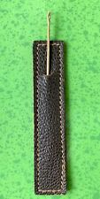 Vintage 14K Rose Gold Hand Sewing Needle with Brown Leather Storage Case
