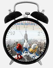 "The Smurfs Alarm Desk Clock 3.75"" Room Office Decor X41 Nice For Gift"