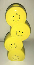 Burton retro Smiley Face Have A Nice DAY bud vase Stacked Smile Emoji