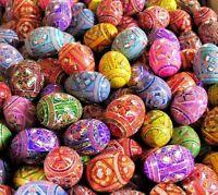 Assorted Wooden Painted Ukrainian Easter Egg Eggs Pysanky Pysanka Pysanki Easter
