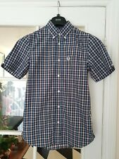 """FRED PERRY SHORT SLEEVE SHIRT MENS SIZE XS PIT TO PIT""""17.5 GENUINE GOOD CONDITIO"""