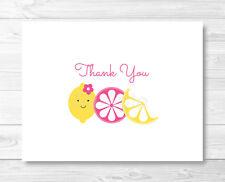 Pink Lemonade Thank You Card Printable